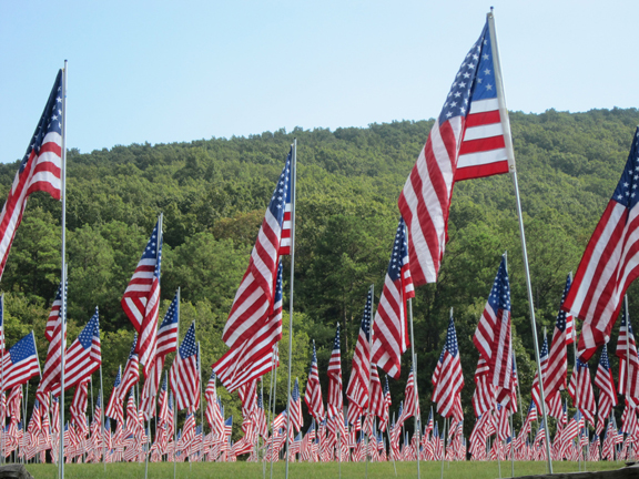 Field of Flags – One Life Lost. One Flag Flown – September 11, 2016.