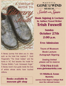 Marietta Gone With the Wind Museum Book Signing – Oct 27