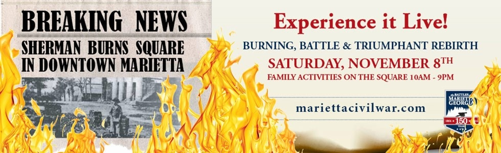 Commemoration of the Burning of downtown Marietta