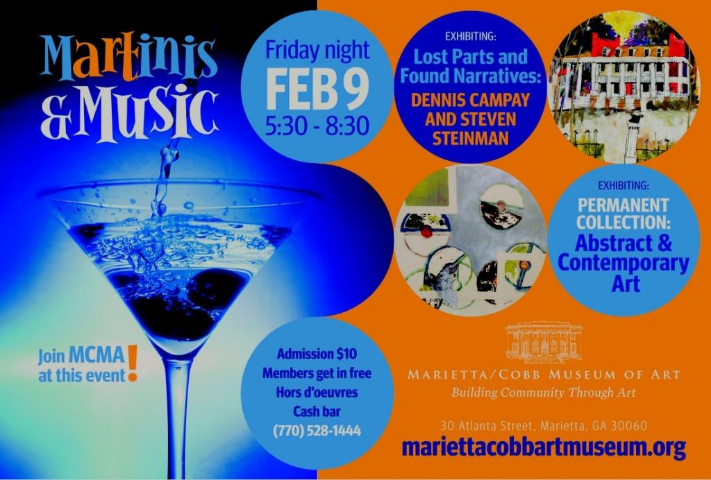 Martinis and Music – MCMA – February 9