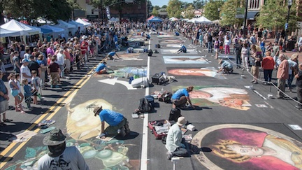 Chalktoberfest – Sat and Sun, October 13 & 14 – On the Square, Marietta
